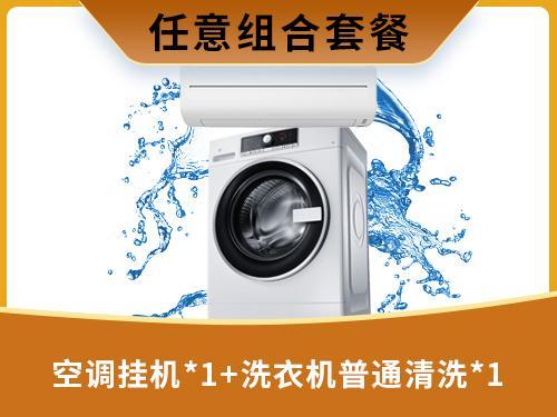 空调挂机*1+洗衣机普通清洗*1